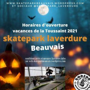 Read more about the article Halloween et Vacances de la Toussaint au skatepark Laverdure Beauvais