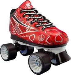 Red Heart Roller Skates