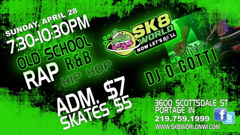 Hip Hop Old School Skate Night at Sk8world Portage