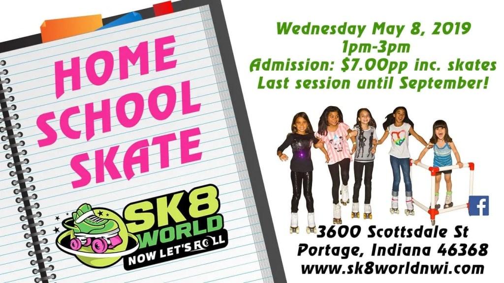 Sk8world's last home school skate of the season