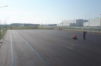 Ремонт парковки на заводе Nissan Санкт-Петербург
