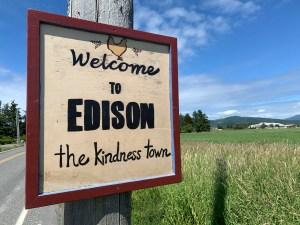 Edison washington-town-sign