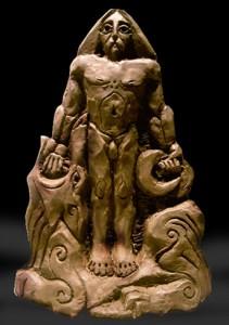 Tyr - guden som ger sin hand för det större syftet.  Gudastötta av Aldo Asp.