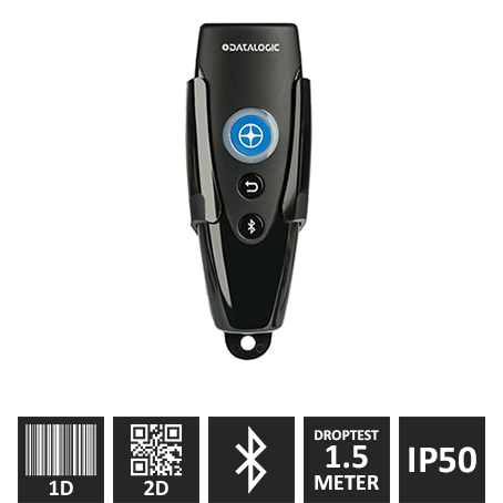 Datalogic RIDA 2D Bluetooth Scanner M/ Clip Og Lanyard