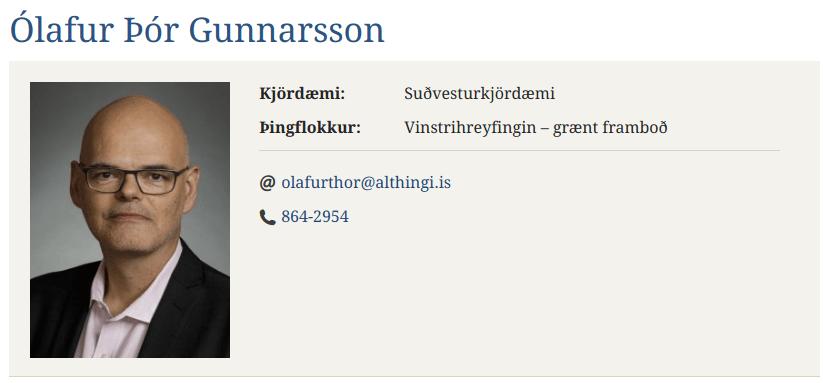 Þingmaður VG lýgur blákalt í ræðustól Alþingis