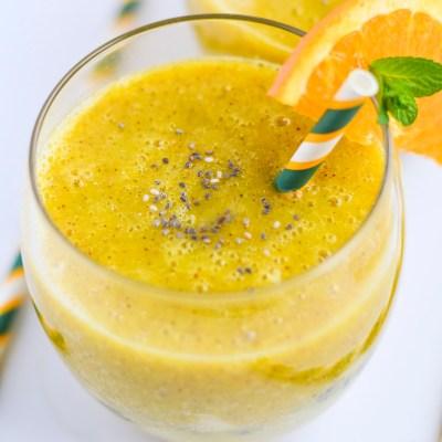 Mango, apelsino ir kivių kokteilis