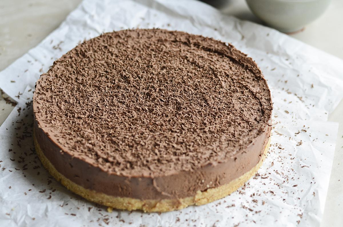 sokoladinis maskarpones nekeptas pyragas skanios dienos