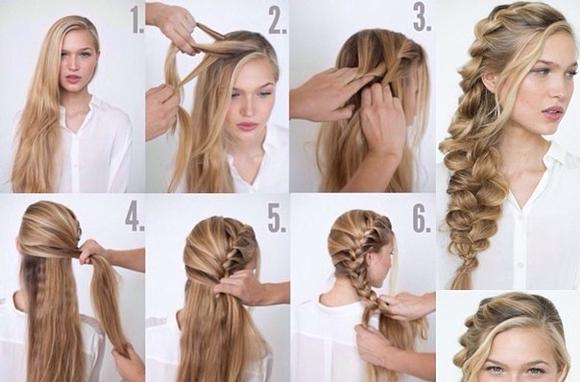 Плетения косы с добавлением волос