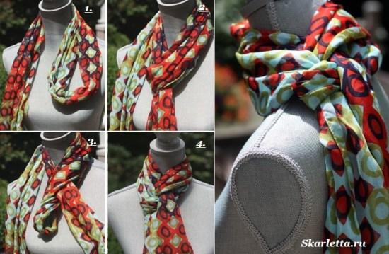 Как-завязать-шарф-на-шее-Способы-завязать-шарф-схемы-и-фото-52