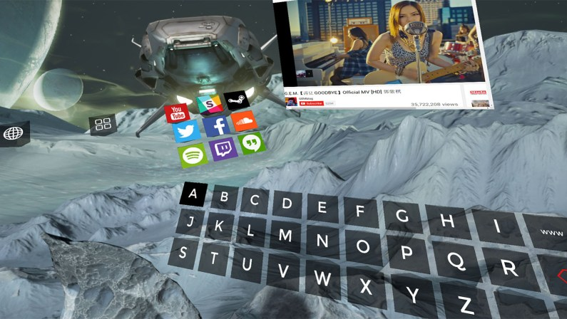 V virtual reality dashboard