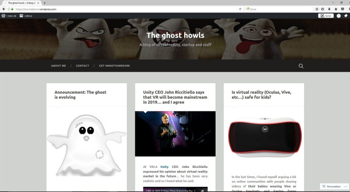 old skarredghost virtual reality blog layout