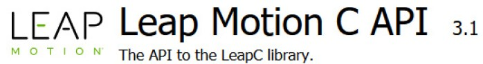 Leap Motion v2 LeapC Api