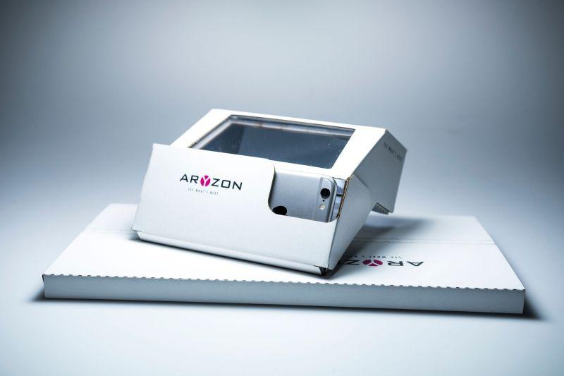 Aryzon augmented reality AR cardboard