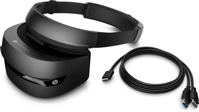 HP mixed reality headset with controllers