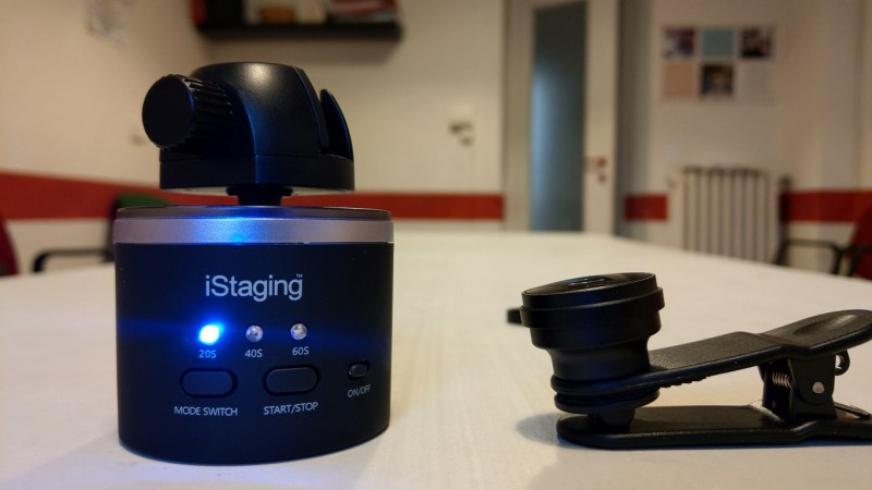 iStaging rotator and clip lens