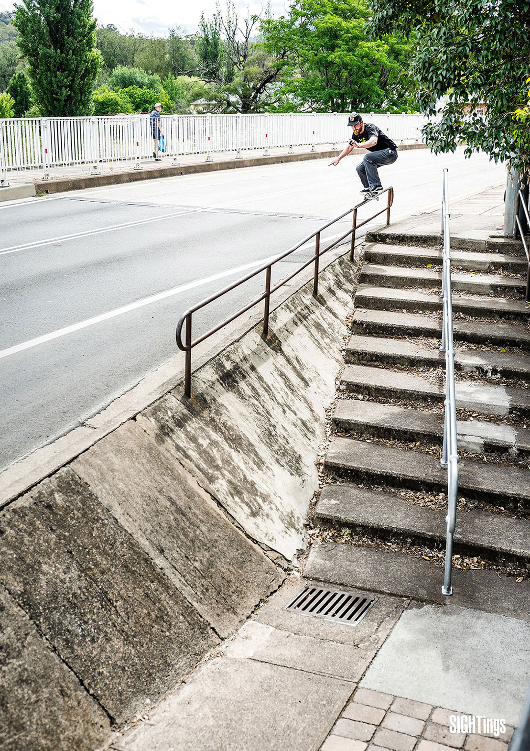 Jesse 'Red' Noonan, 50-50 into bank. New South Wales, Australia.