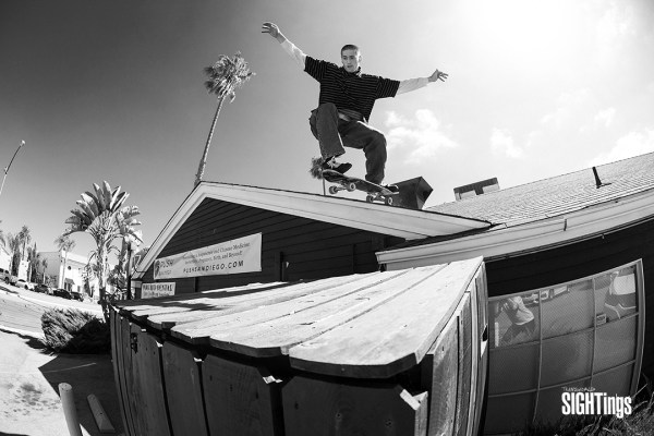 Collin Giles. Roof roll in. San Diego, CA. Photo: Blair Alley