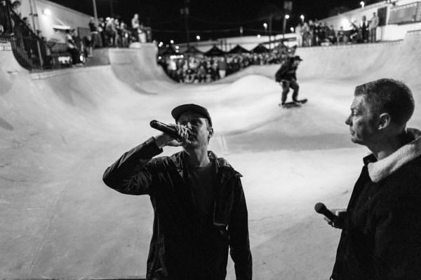 Brian and Weiss emcee'd the CONS bowl jam. They also have each other's names tattooed on them.