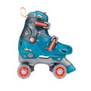 rolschaatsen blauw en oranje