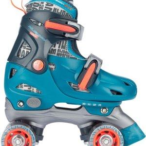 Nijdam junior rolschaatsen verstelbaar blauw-zalm