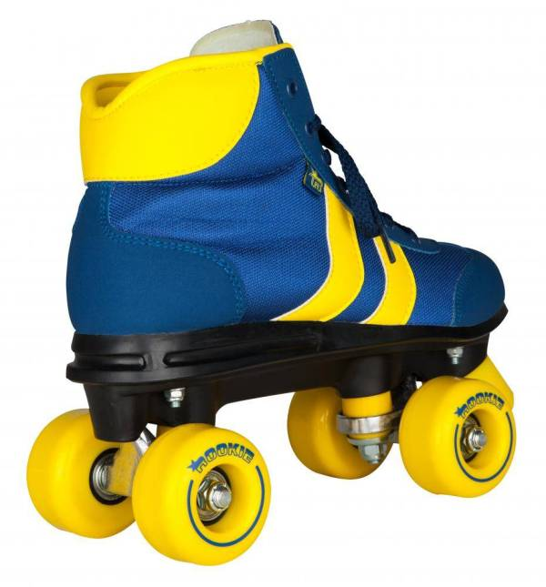 Rookie retro rollerskates blauw-geel 1