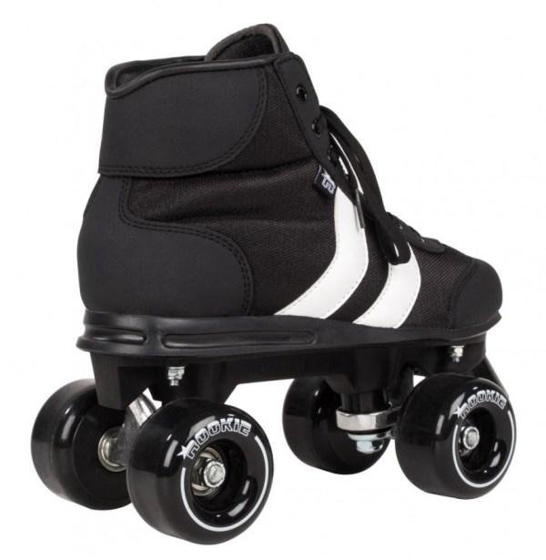 Rookie Retro rolschaats zwart/wit achterkant