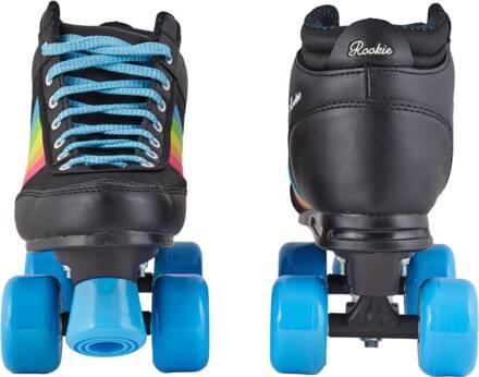 rookie forever rainbow rolschaats zwart vooraanzicht