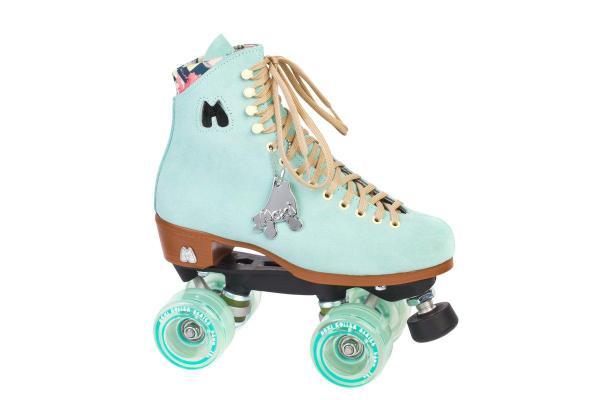 Moxi Lolly mint blauwe rolschaatsen