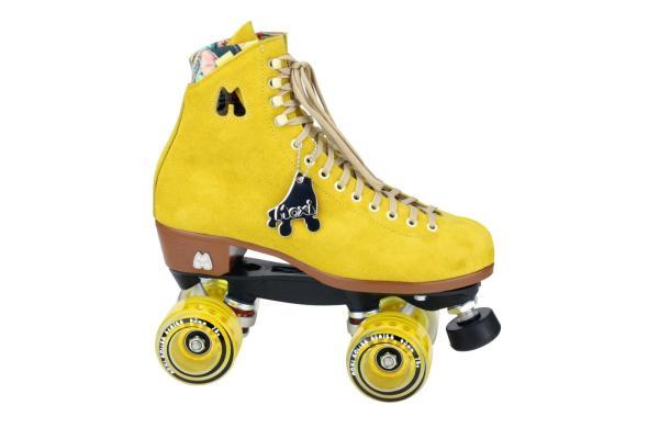 Mooie Moxi gele dames rolschaatsen