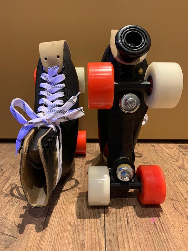 Zwarte lederen RSI Skates 2