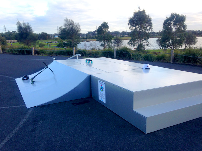 The latest innovative design from Skateramps Australia is the award winning Mobile Funbox