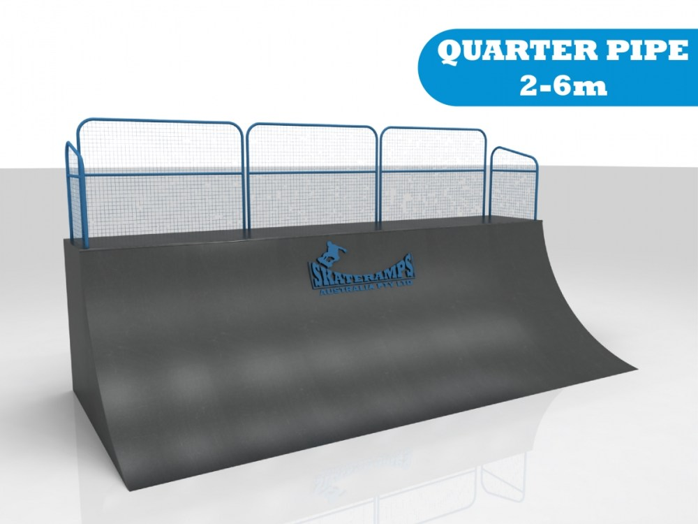 The quarter pipe skate ramp module is one of the modules available for councils and commercial organisations from Skateramps Australia