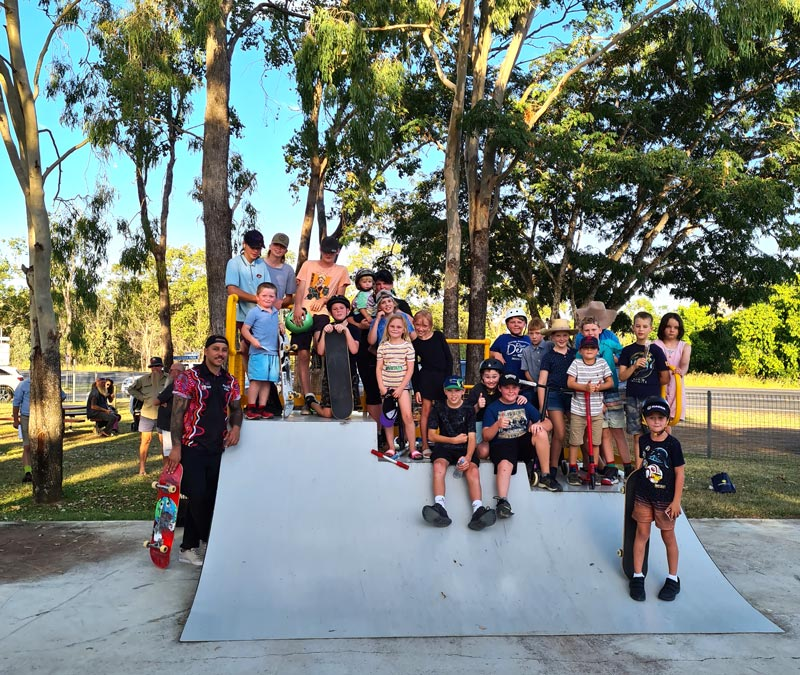All our skate park feature a safety placard.
