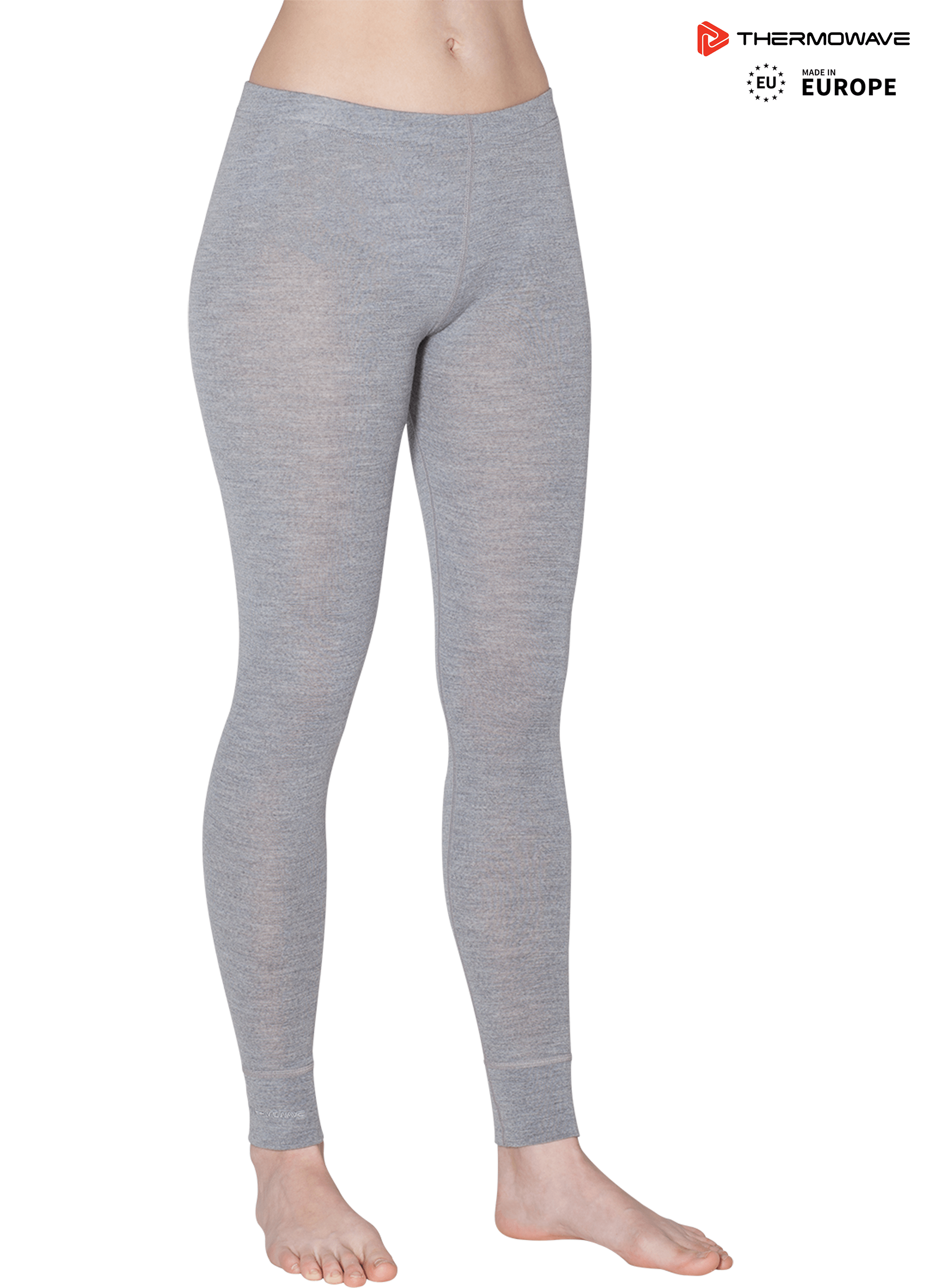 49b321b96fa07 THERMOWAVE – model: Grey MERINO WARM, made in Europe, Womens 100% Merino  Wool Base Layer 180 GSM Pants, Leggings