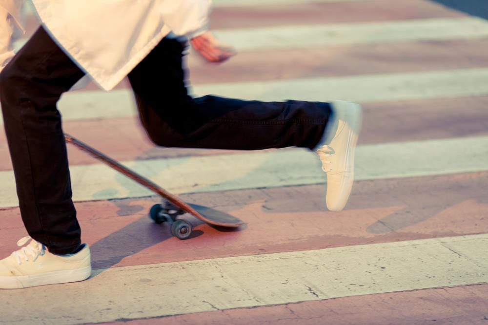 running prevent fall skateboard