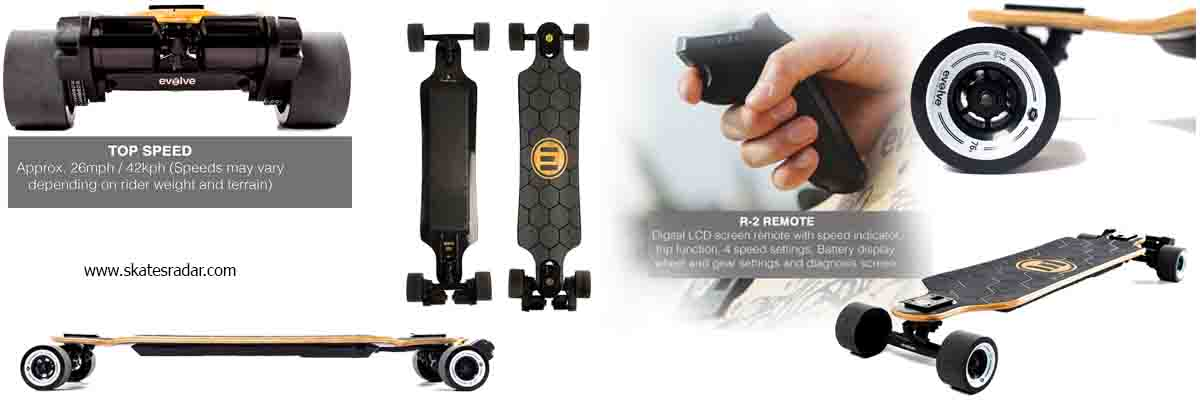 Evolve best bamboo street motorized skateboard fastest