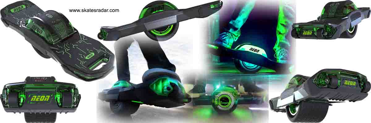 Neon one wheel self balancing skateboard hoverboard scooter