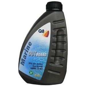 Масло двухтактное Q8 Outboard 2T для лодок и катеров 1л