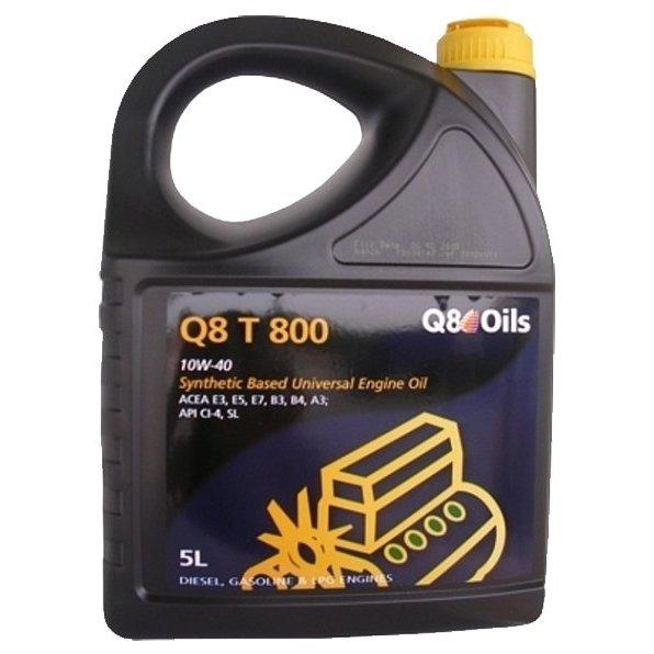 Масло моторное Q8 T 800 10W-40 CI-4/SL А3/В3/B4/E3/E5/E7 полусинтетика 5л