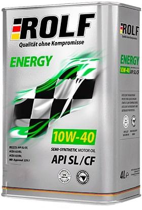 Масло моторное ROLF Energy 10W-40 SL/CF полусинтетика 20л