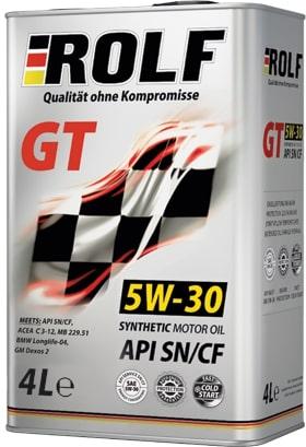 Масло моторное ROLF GT 5W-30 SN/CF синтетика 4л