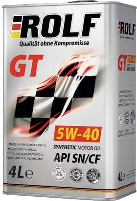 АКЦИЯ! Масло моторное ROLF GT 5W-40 SN/CF синтетика 4л по цене 3л