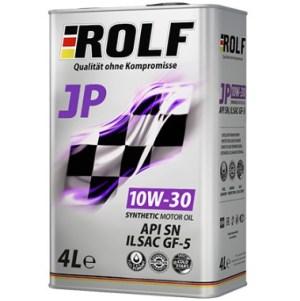 АКЦИЯ! Масло моторное ROLF JP 10W-30 SN GF5 синтетика 4л по цене 3л