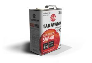 Масло моторное TAKAYAMA 5W-40 SN/CF A3/B4 синтетика 1л