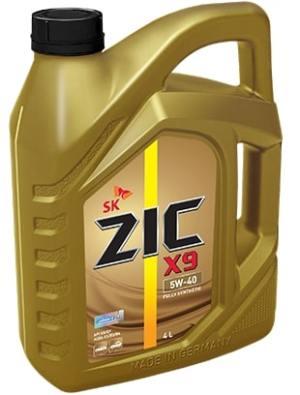 Масло моторное ZIC X9 5W-40 SN/CF A3/B4 синтетика 4л