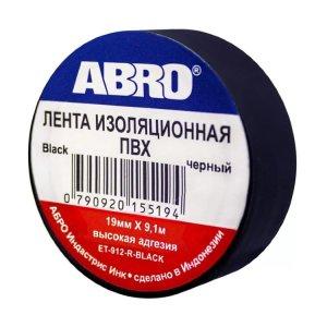 Изолента ABRO ET-912-R-BLACK черная