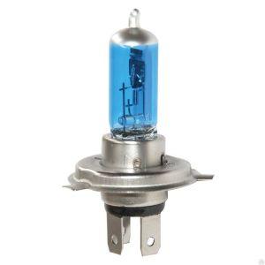 Автолампа галогенная ДИАЛУЧ 12104 BLUE H4 12V 100/90W P43t, голубая, дальний/ближний свет