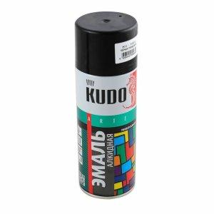 Эмаль KUDO KU-1002 черная глянцевая универсальная 520мл
