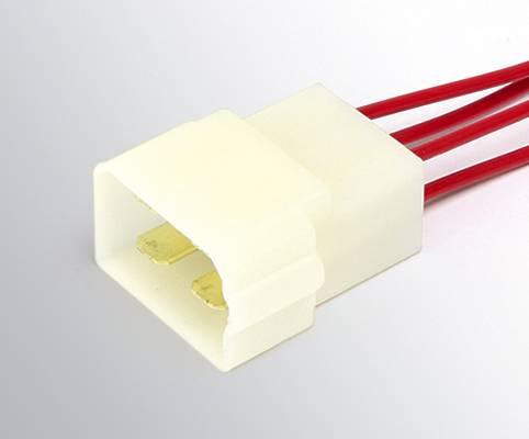 Колодка с проводами ДИАЛУЧ КЛ066-1 4 конт.6.3мм (штырьевая+гнездовая)