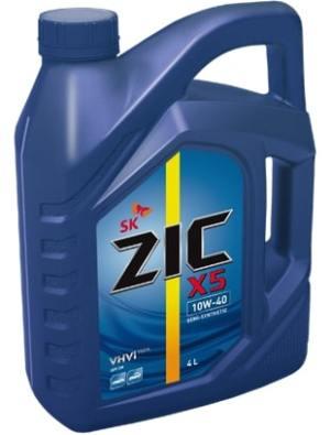 Масло моторное ZIC Х5 10W-40 SM полусинтетика 1л